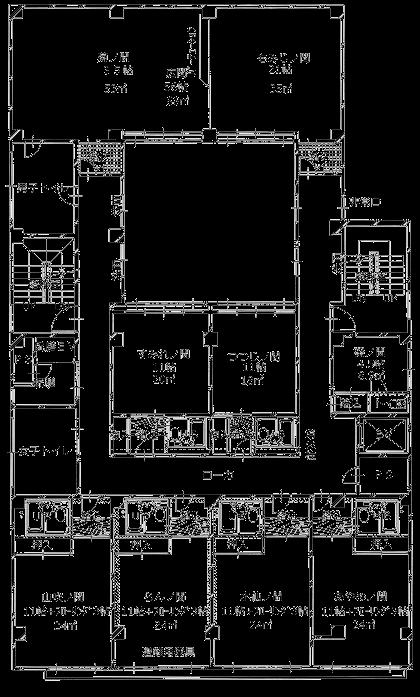 ますや旅館2F平面図