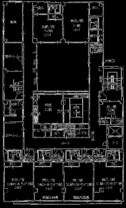 ますや旅館3F平面図