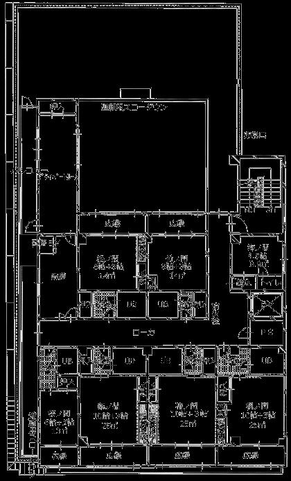 ますや旅館4F平面図